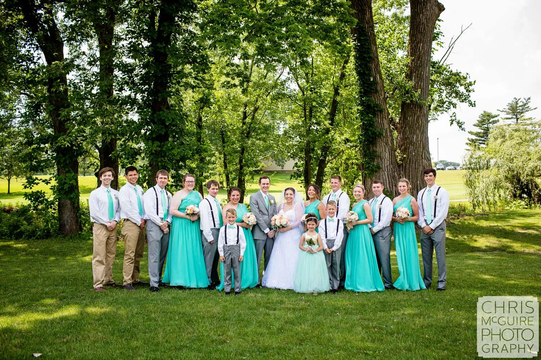 bloomington il wedding party portrait