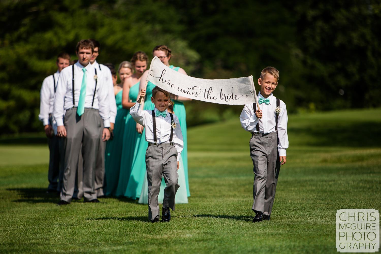 wedding party processional Crestwicke Country Club