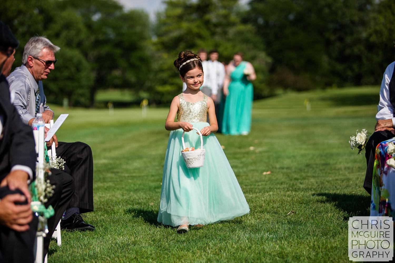 flower girl Bloomington IL wedding