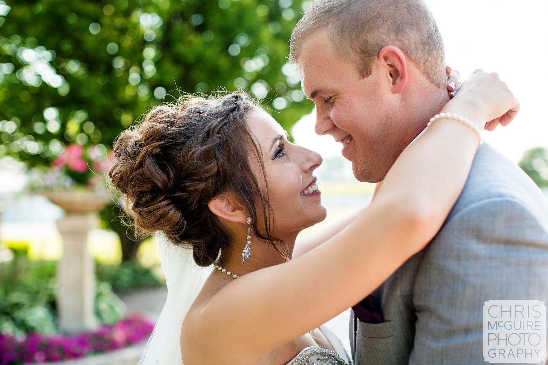 intimate portrait at Peoria IL wedding