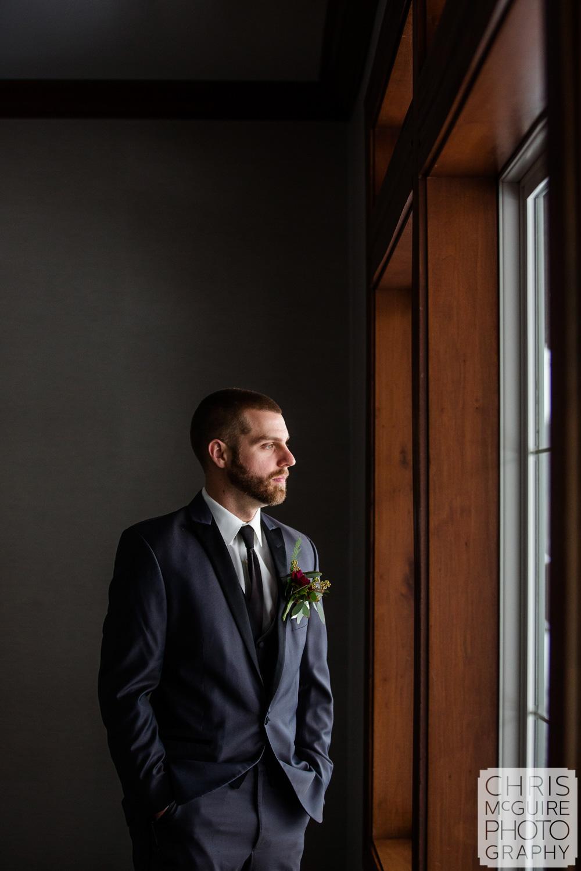 Groom portrait at Weaver Ridge