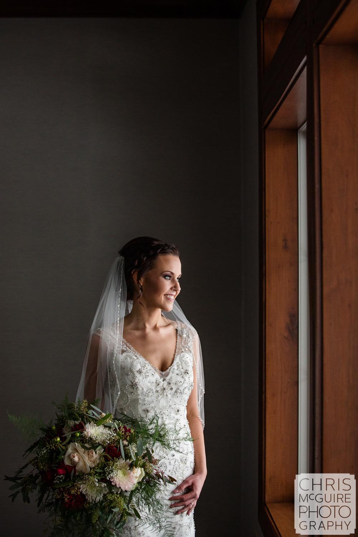 Bride portrait at Weaver Ridge Wedding