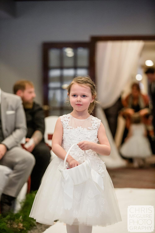 Flower girl at Weaver Ridge Wedding
