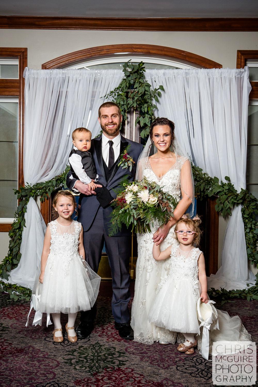 Family portrait at Weaver Ridge Wedding