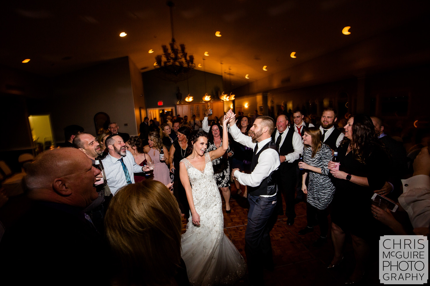 Bride and groom dance at Weaver Ridge Reception