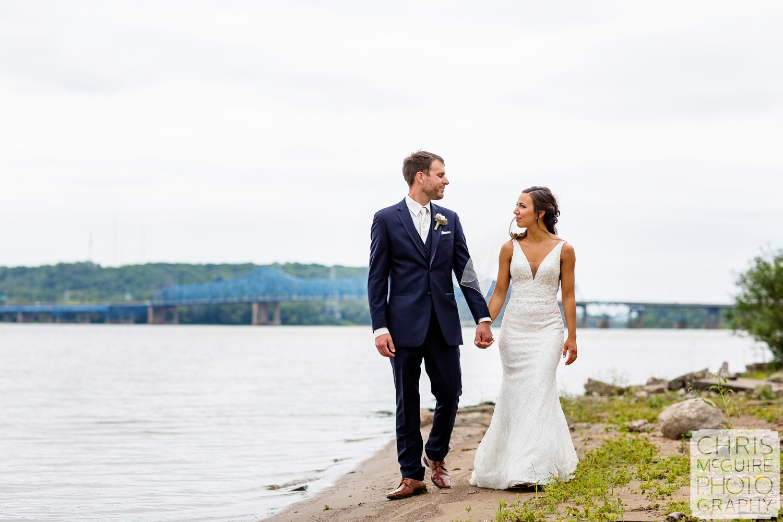 Peoria Riverfront Wedding with Bridge