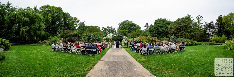 Luthy Botanical Garden Wedding Panoramic