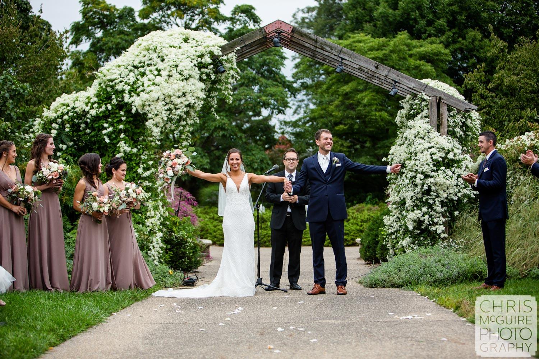Luthy Botanical Garden Wedding Announcement