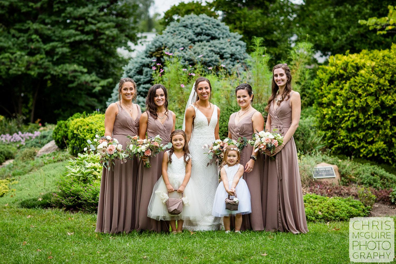 Bridal Party at Luthy Botanical Garden Wedding