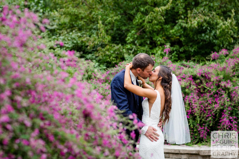 Luthy Botanical Garden Wedding, Purple flowers