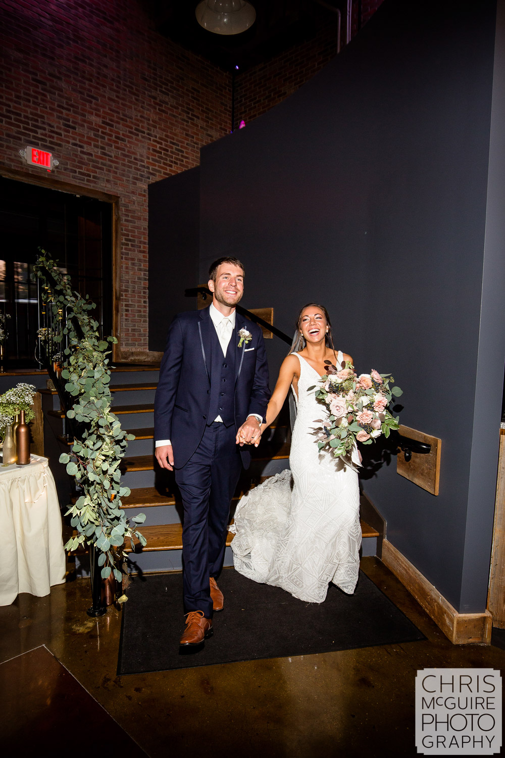 Couple enters Warehouse on State Wedding Reception
