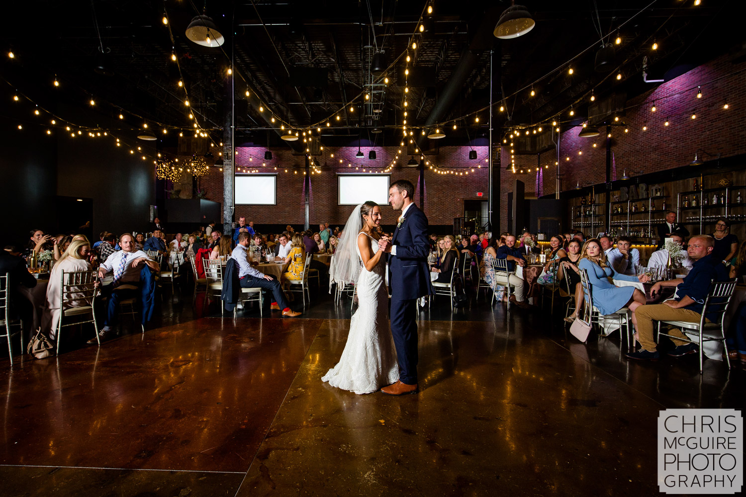 First Dance at Warehouse on State Wedding Reception