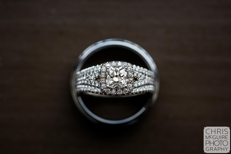 Engagement and wedding diamond rings