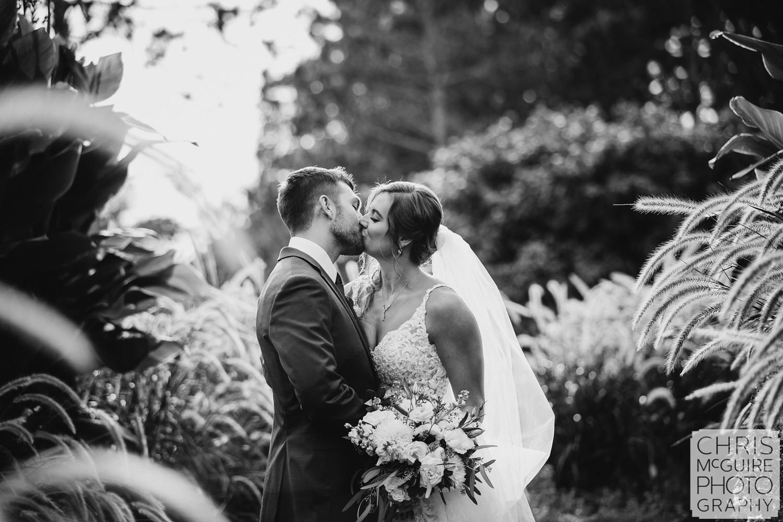 Washington Park Springfield IL wedding kiss