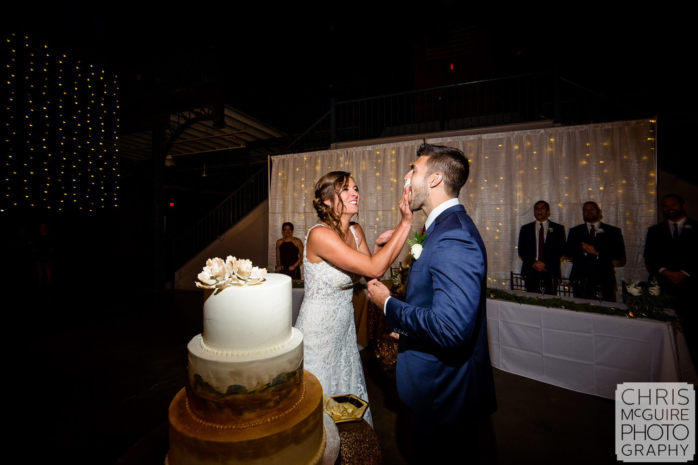 Cake Smash at Illinois State Fairgrounds Wedding