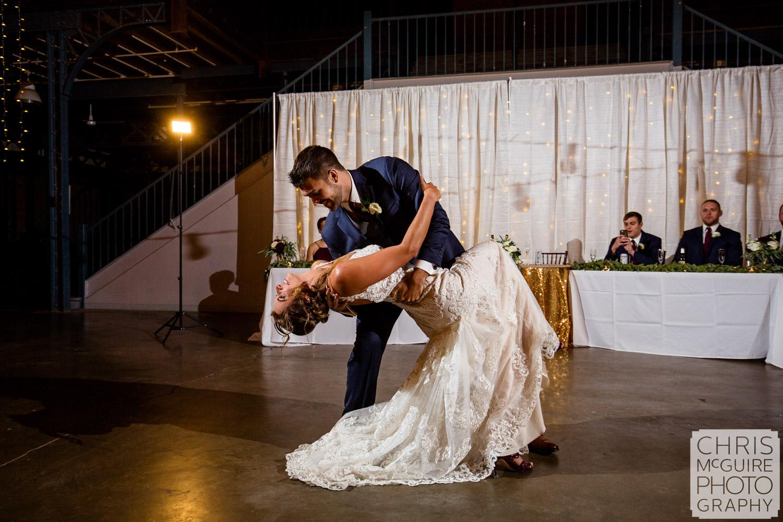 Dip at Illinois State Fairgrounds Wedding