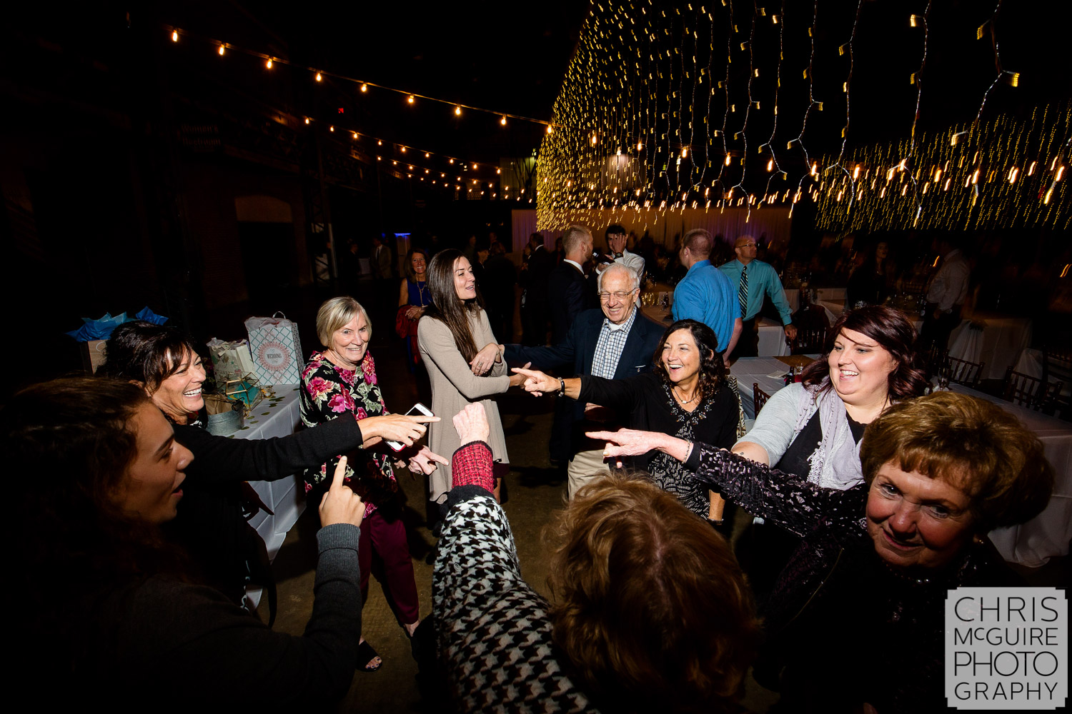 Dancing at Illinois State Fairgrounds Wedding Reception