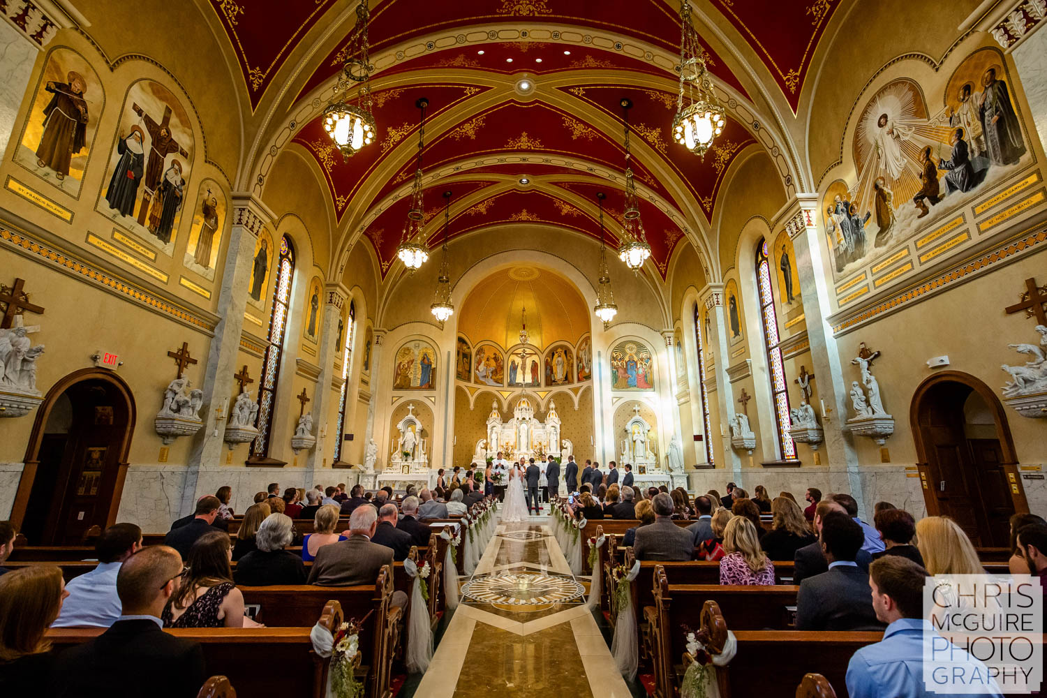 Sacred Heart Church Wedding in Peoria, IL, Chris McGuire Photography