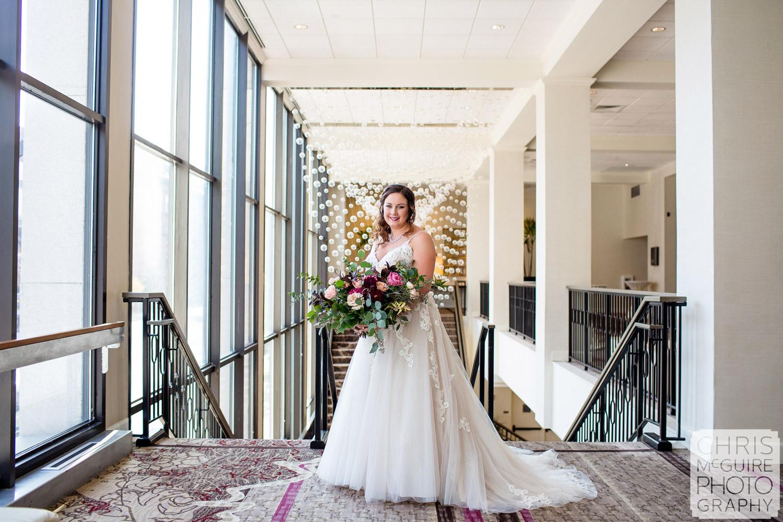 Bride portrait at Peoria Pere Marquette