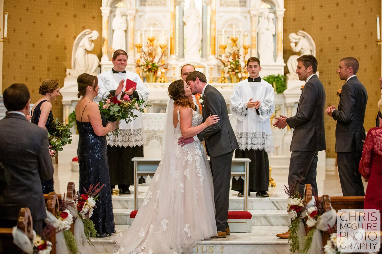 First Kiss at Peoria Sacred Heart Church