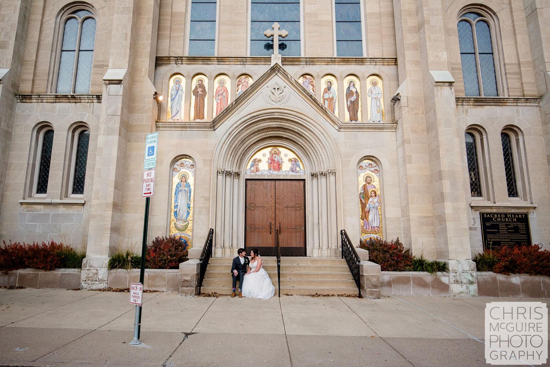 Sacred Heart Church Peoria IL Wedding