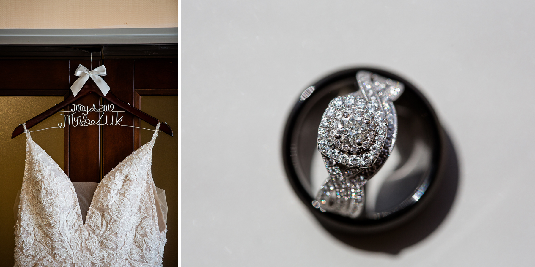 Peoria Illinois Wedding Ring and Dress