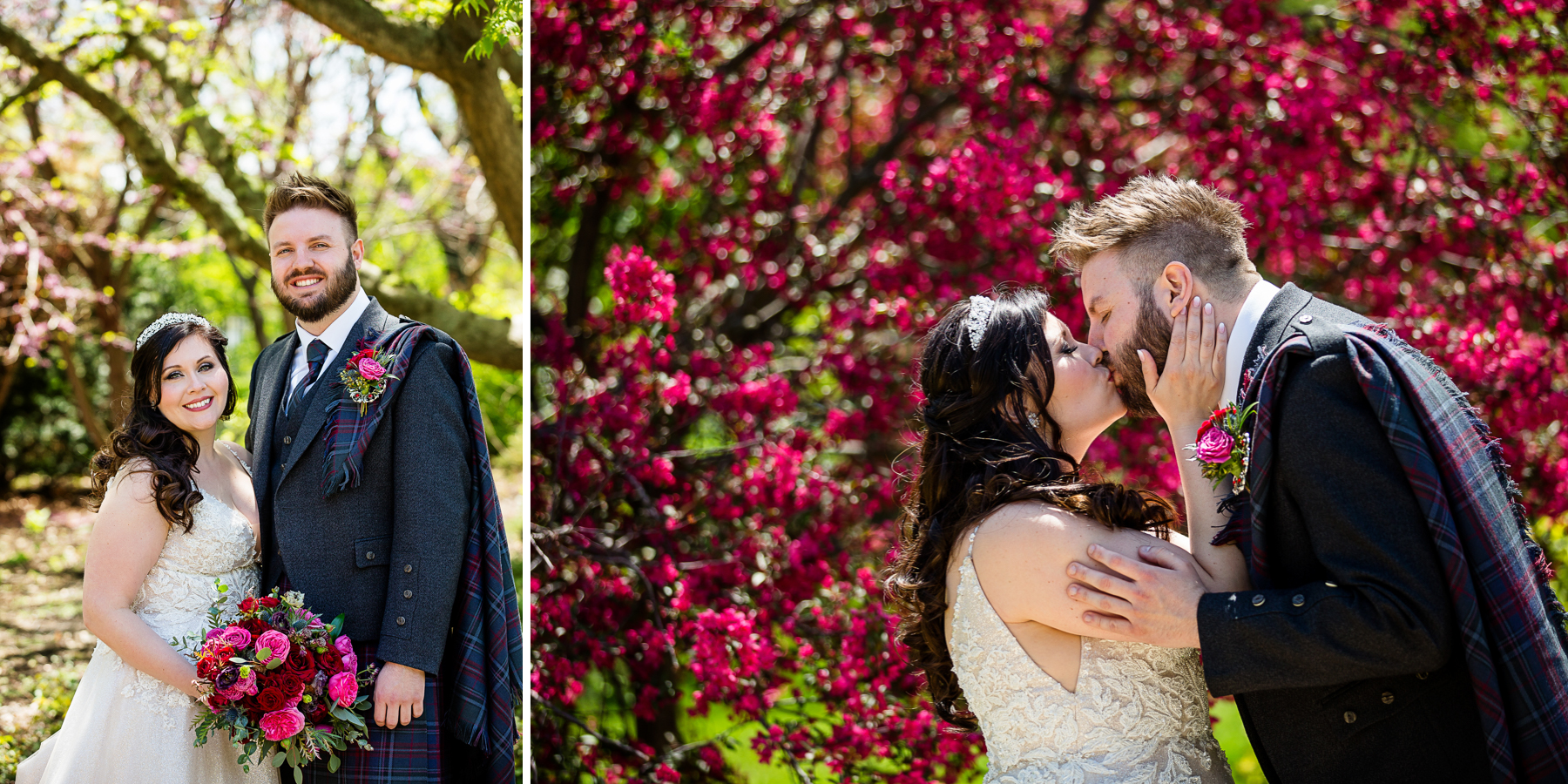 Wedding Portraits at Luthy Botanical Garden in Peoria Illinois