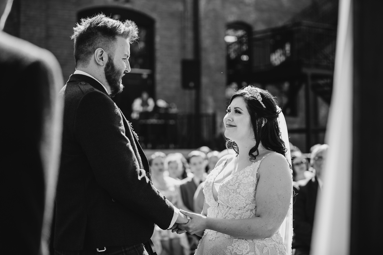 Bride at Trailside Wedding in Peoria Illinois