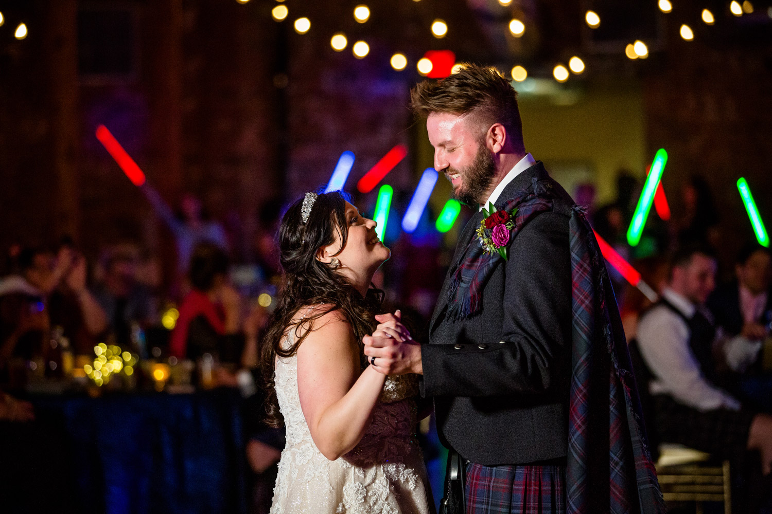 First Dance with light sabers