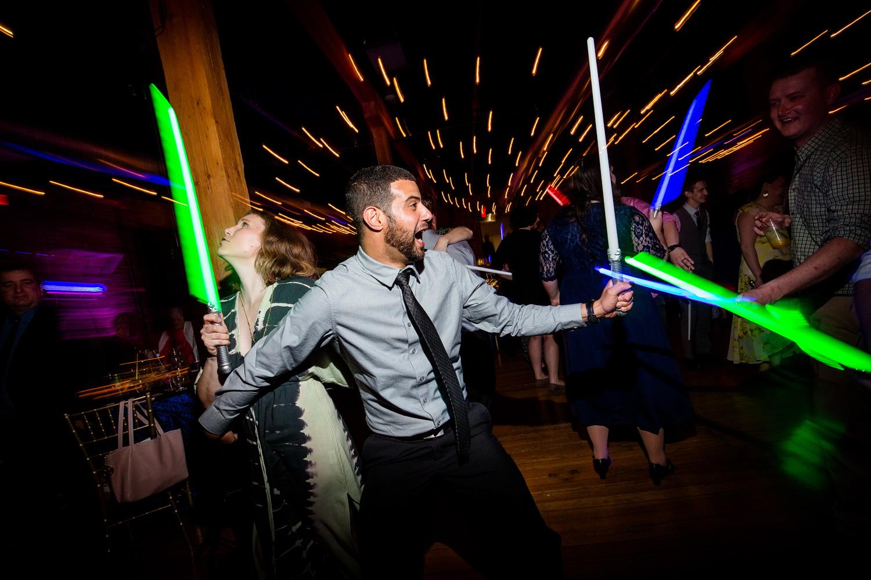 Light Sabers on Dance Floor