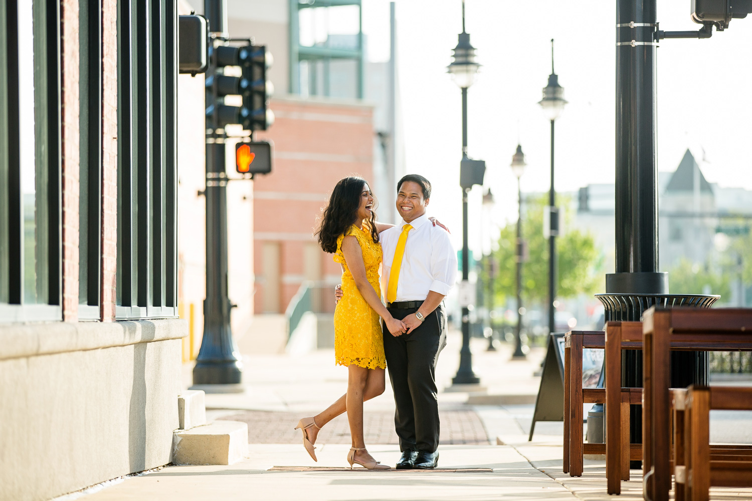 Peoria IL Engagement Portrait