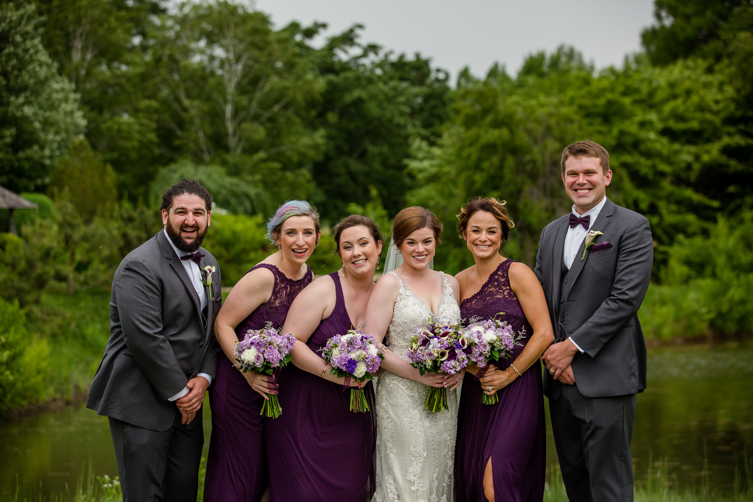 Wedding Party at University of Illinois Arboretum