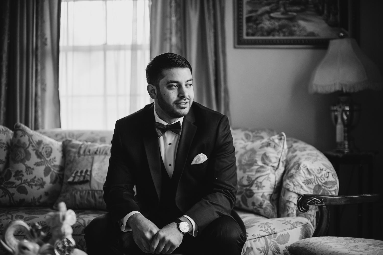 Groom portrait before Peoria Wedding