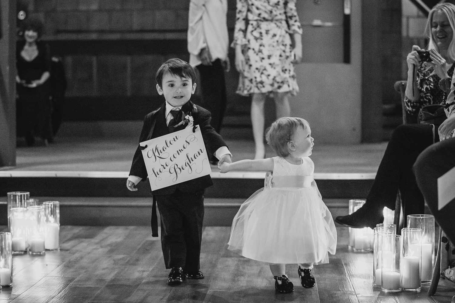 Ring bearer and flower girl at Peoria Wedding