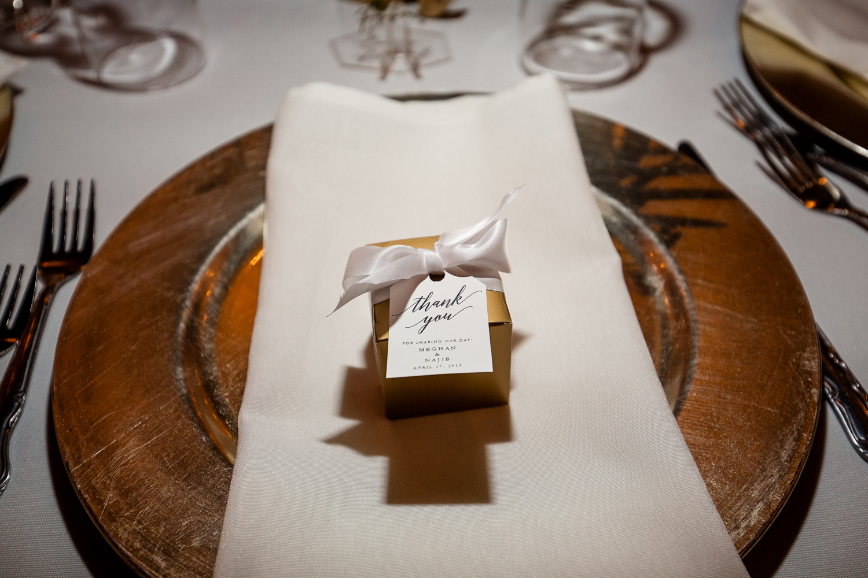 Wedding reception favor