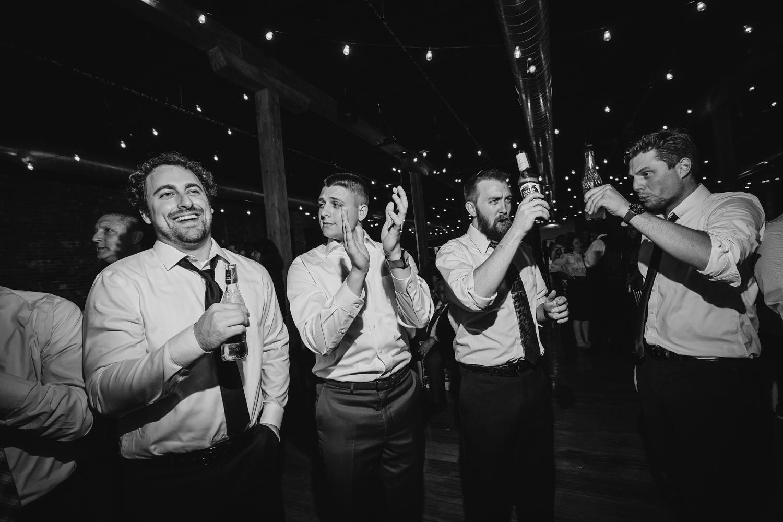 Wedding Reception fun at Trailside Event Center in Peoria Illinois