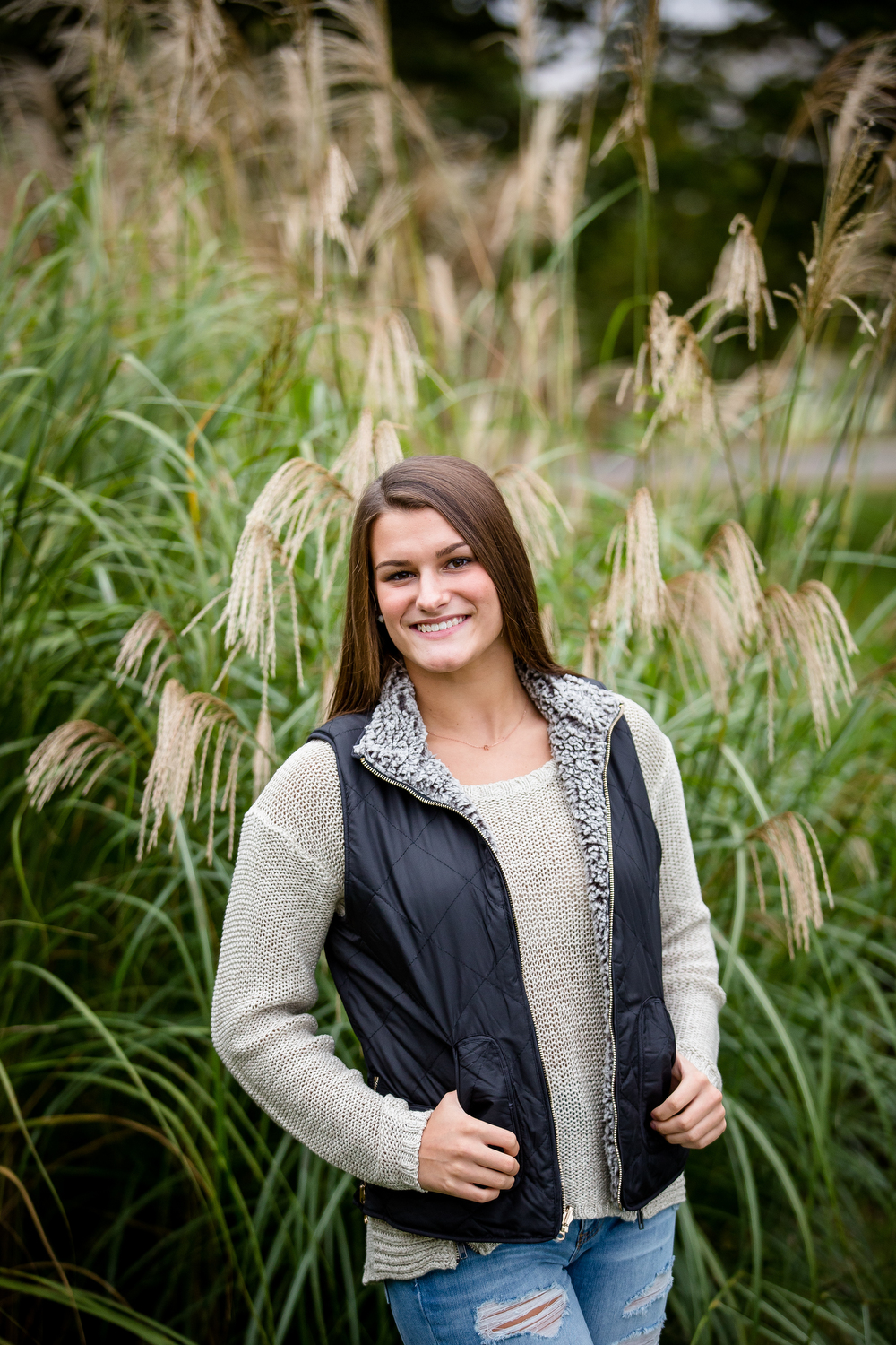 Senior Portrait with tall grass