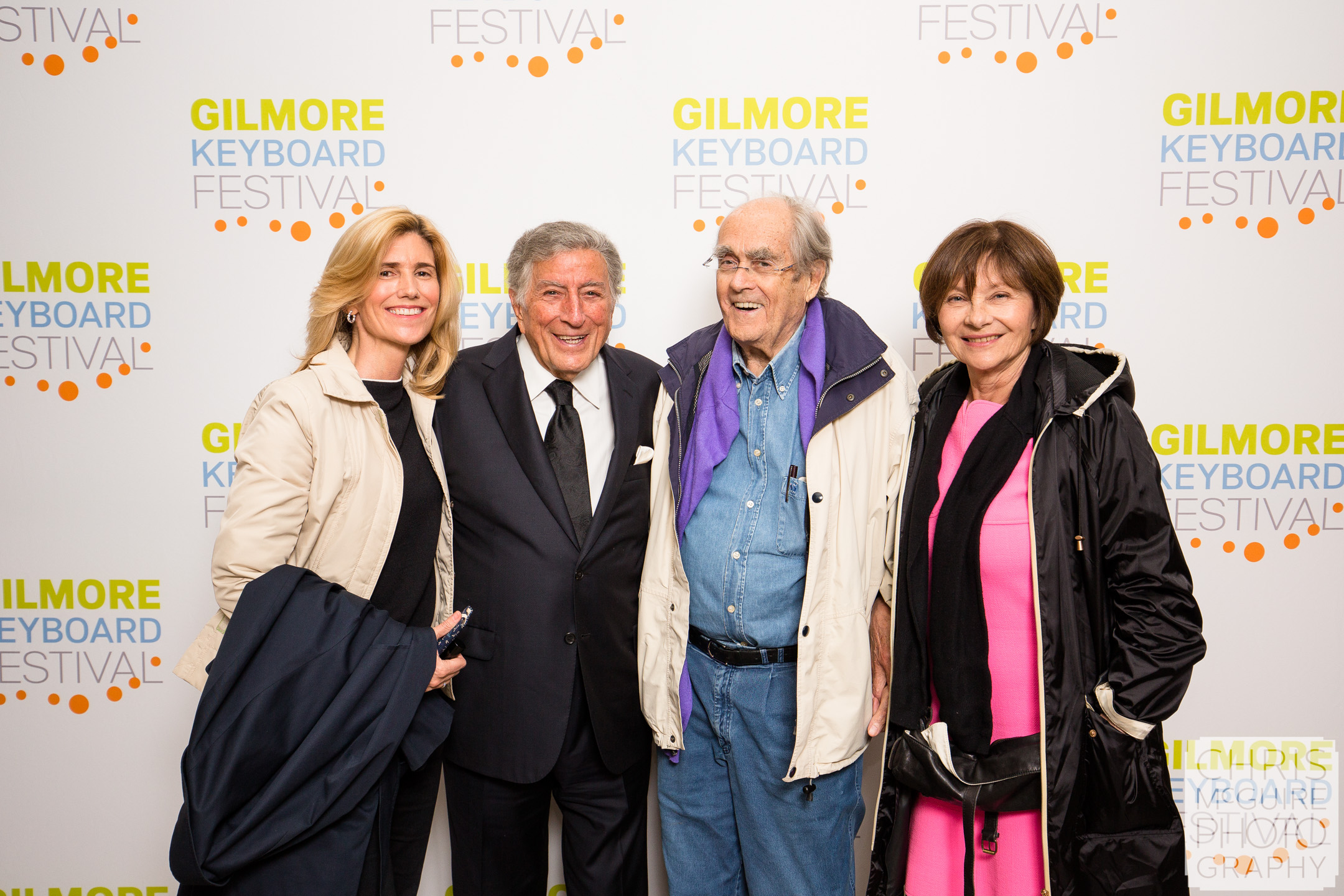 Tony Bennett and Michel Legrand backstage at The Gilmore
