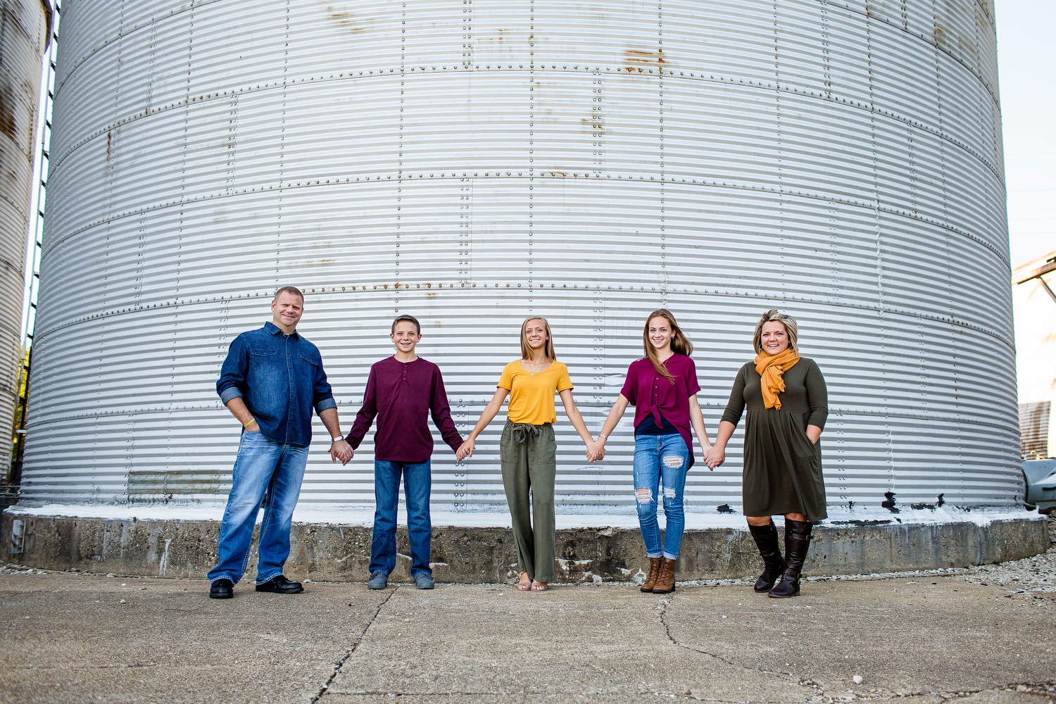 Family Portrait with silo