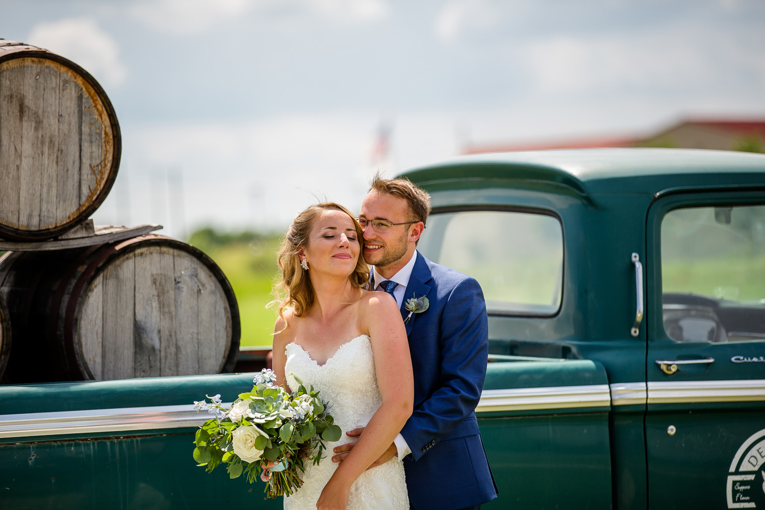 Destihl Brewery Wedding Portrait