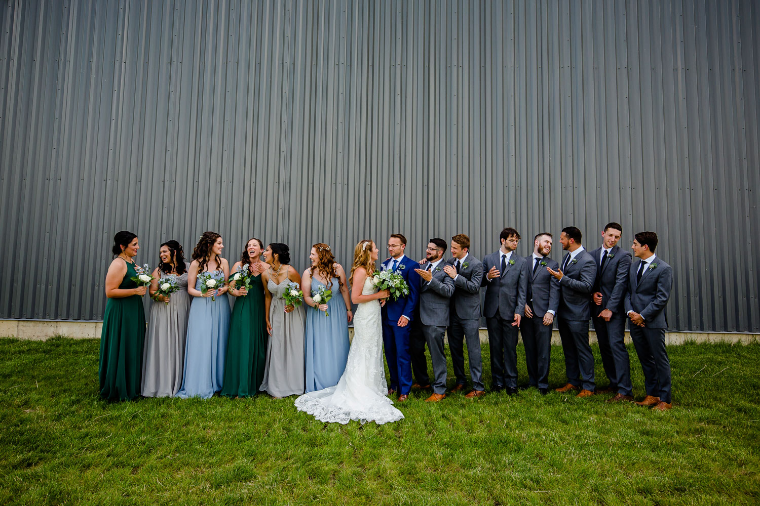 Destihl Brewery Wedding Party Portrait