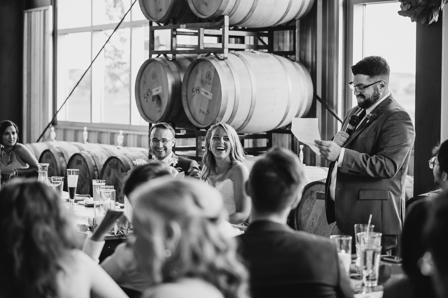 Destihl Brewery Wedding Speech