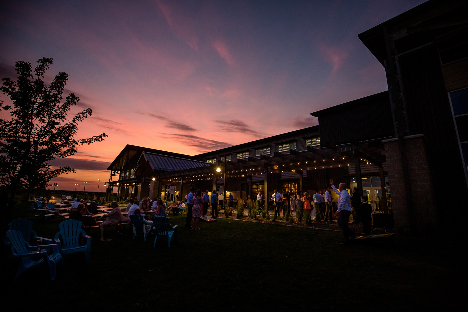 Destihl Brewery Wedding Sunset
