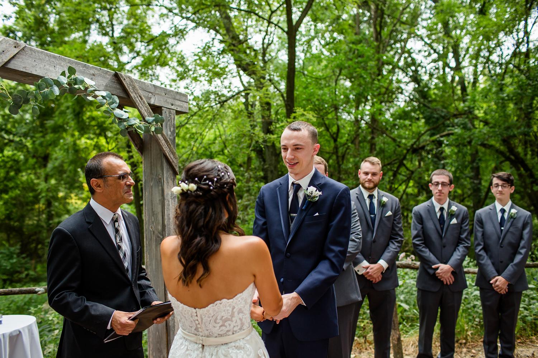 Grooms sees bride at Peoria Wedding