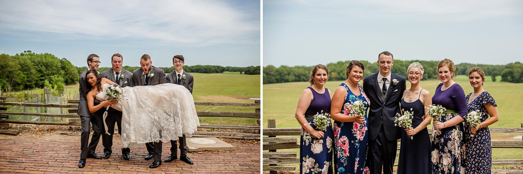 Wildlife Prairie Park Wedding Party