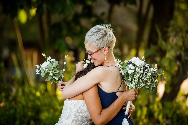 Wedding Hug Sisters