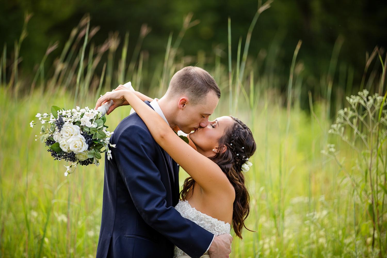 Wildlife Prairie Park Wedding Kiss