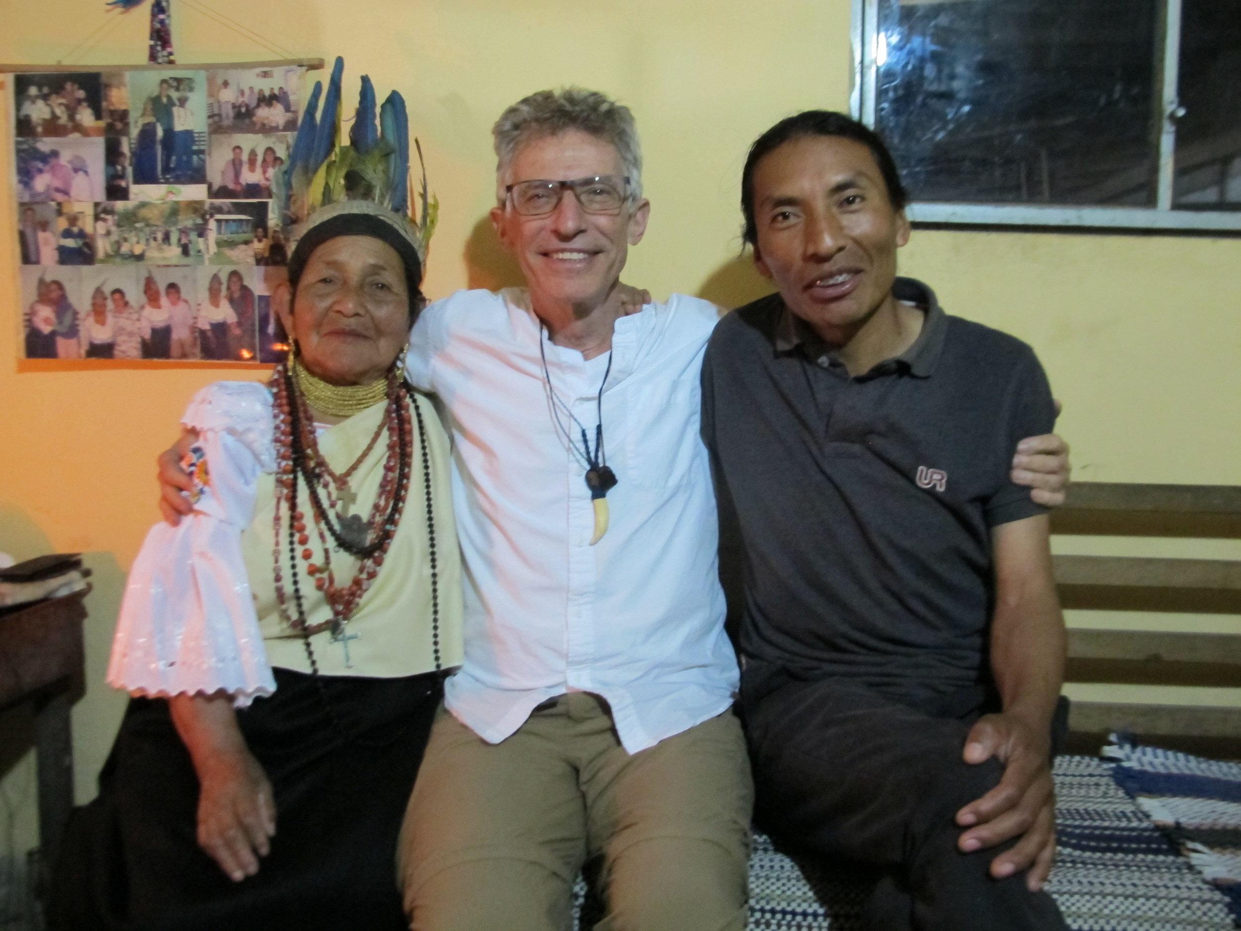 The Doña Maria Juana Yamberla and her son Raul, both powerful healers and teachers.