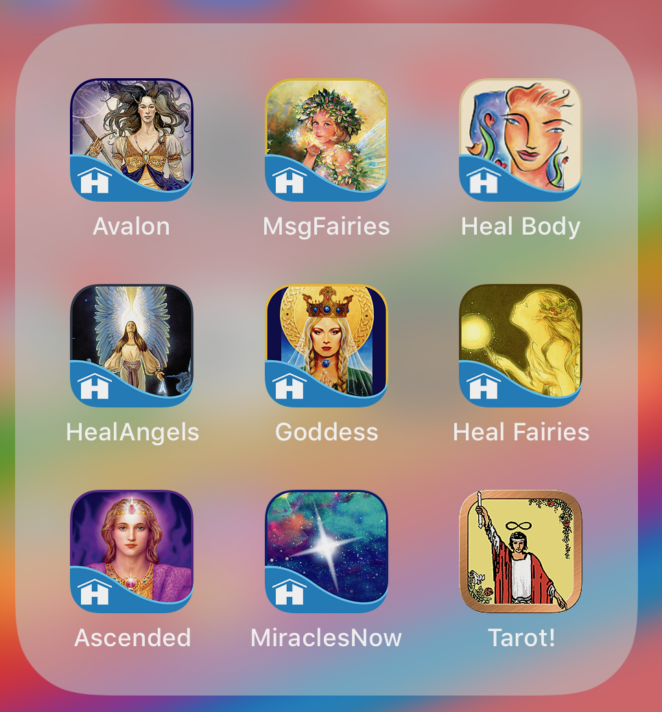 Oracle Cards* - Here are the cards I keep on my phone.* Heal Body app is no longer available. Click here for the book version.