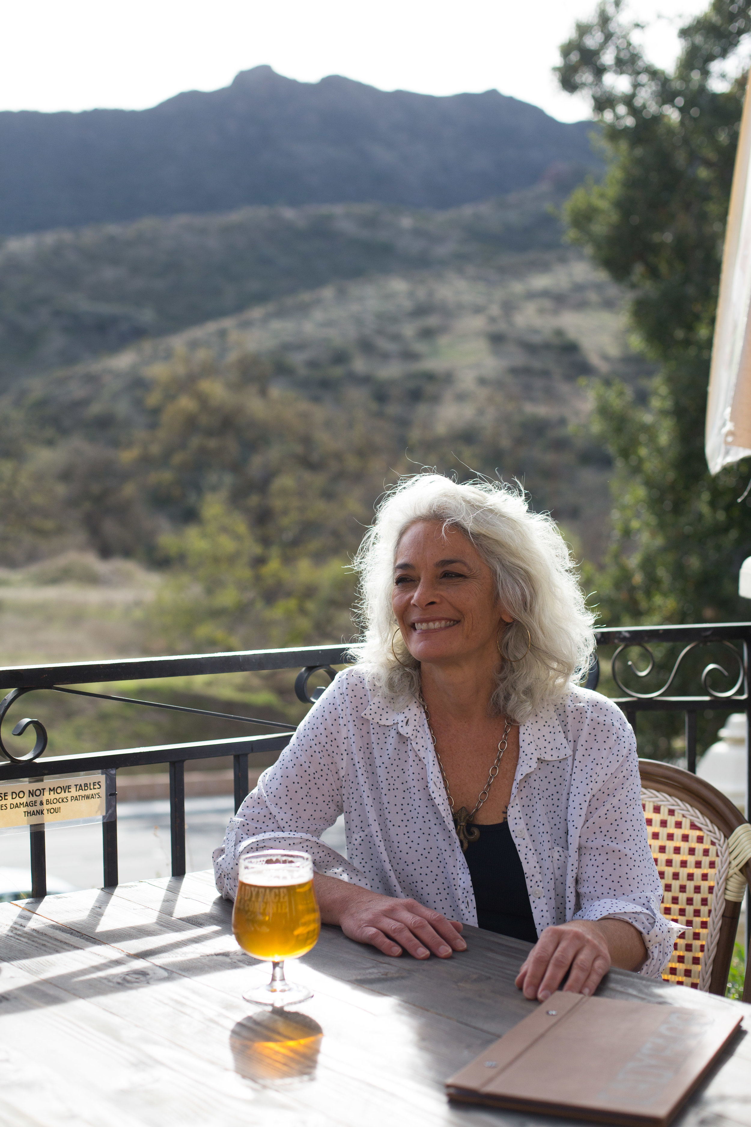 Co-Founder of LadyFace Ale, Cyrena Nouzille, for LAist